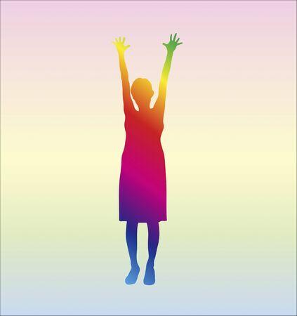 enjoyable: Woman silhouette