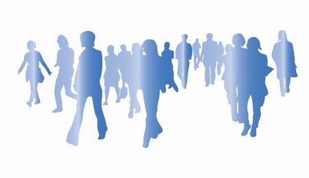 Walking person silhouette