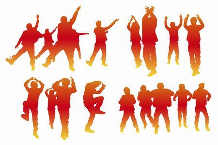 lad: Dance silhouette Stock Photo