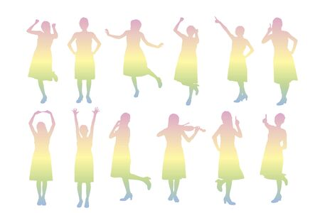 delightful: Woman silhouette