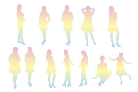 pleasing: Woman silhouette
