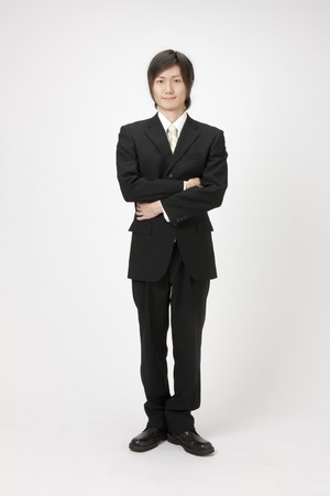 to fold one's arms: Corporate portrait