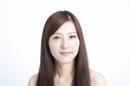 Straight hair female Standard-Bild