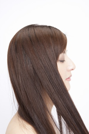 coherence: Touch the straight hair female