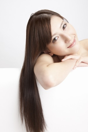 salubrious: Straight hair female Stock Photo