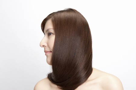 Straight hair female Stock Photo