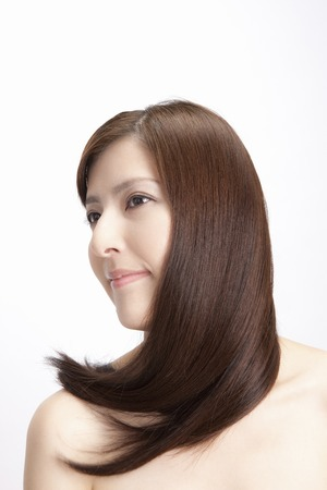 fascinating: Straight hair female Stock Photo
