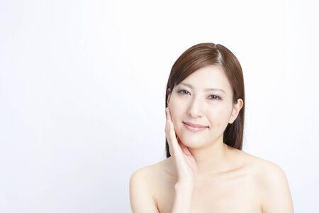 Straight hair female Stock Photo