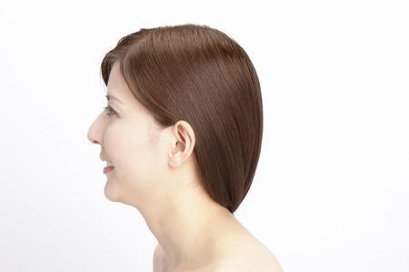 Straight hair female photo