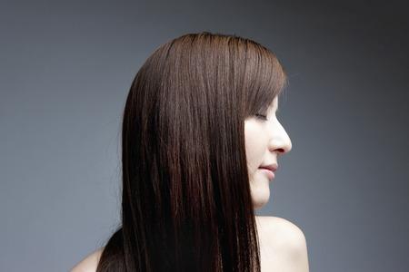 Straight hair female Banco de Imagens