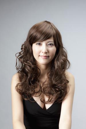 Woman wearing a wig Banco de Imagens