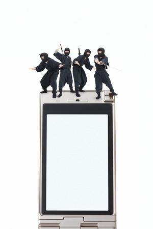 liquid crystal display: Ninja Stock Photo