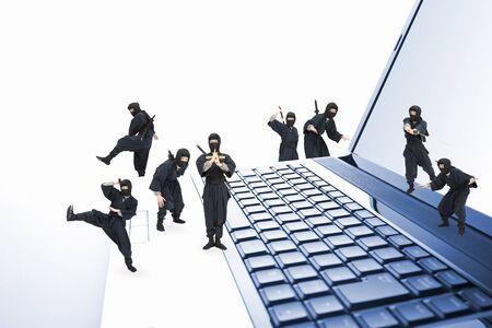 plural number: Ninja Stock Photo