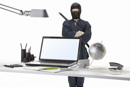 crime prevention: Ninja Stock Photo