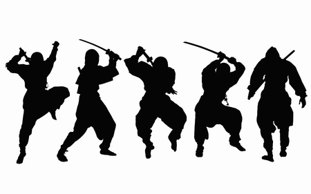 Ninja silhouette Stock Photo