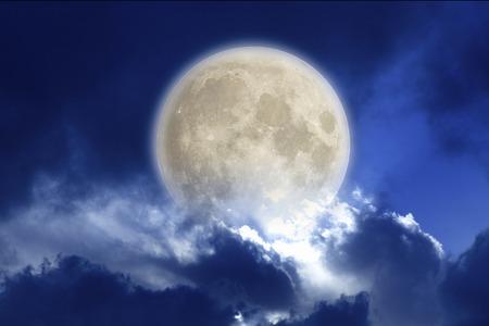 月明かりに照らされた夜 写真素材