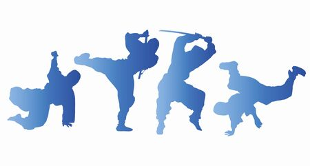 ser humano: Silueta Ninja