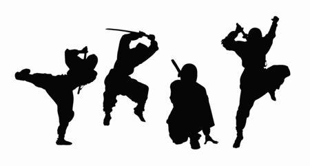 Ninja silhouette Stock Photo