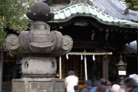 turnout: Surrounded by three shrines Stock Photo
