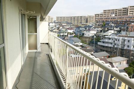 rennovation: Reform before the apartment balcony Stock Photo