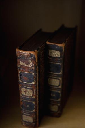 an antique: Antique books Stock Photo