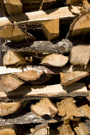woodfired: Stacks of firewood Stock Photo
