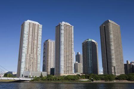 墨田川海岸の高層マンション