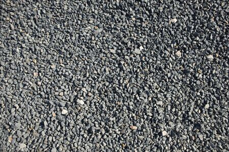 ballast: Gravel road Stock Photo