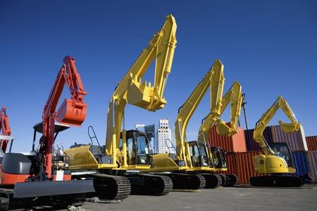 heavy equipment: Power shovel Stock Photo
