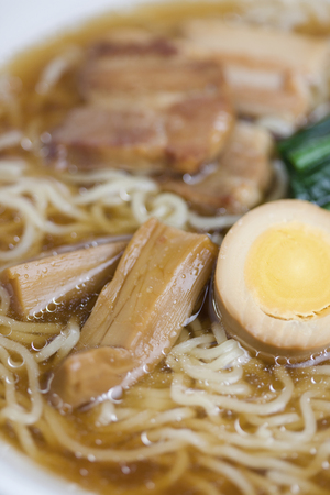 chinese spinach: Soy sauce flavored ramen