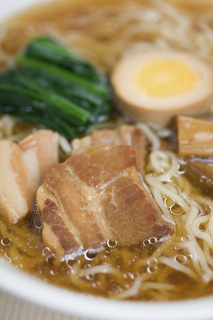 soy sauce: Soy sauce flavored ramen