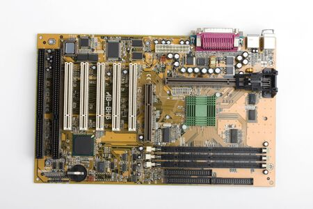 pc: PC motherboard Stock Photo