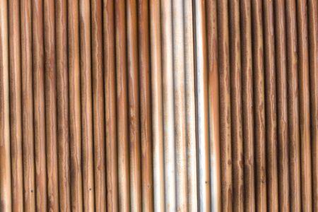 galvanized: Galvanized iron fence Stock Photo
