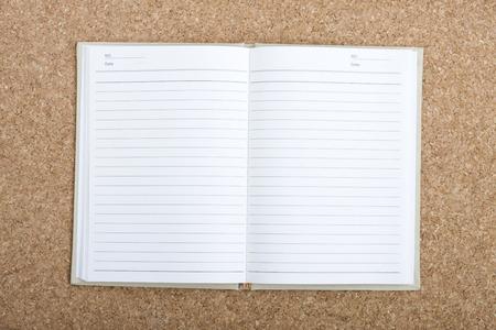 open notebook: an open notebook Stock Photo