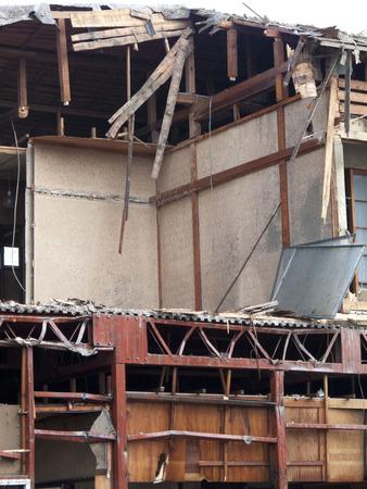 house demolition: House demolition under construction
