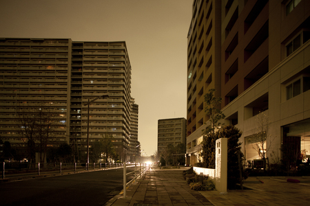 Street lights vanished in blackouts