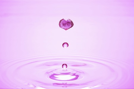 ruby: Heart of ruby of water droplets