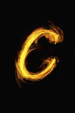 flame: Flame character Stock Photo