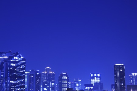 kita: The night view of Osaka Kitaku Stock Photo