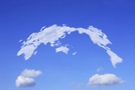 globalism: World map of clouds