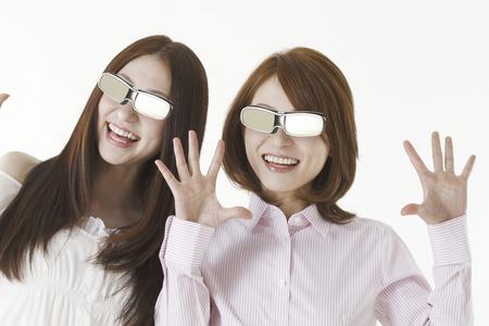 3 d: 3 D glasses and women