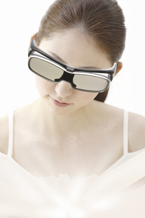 3 d: 3 D glasses and women