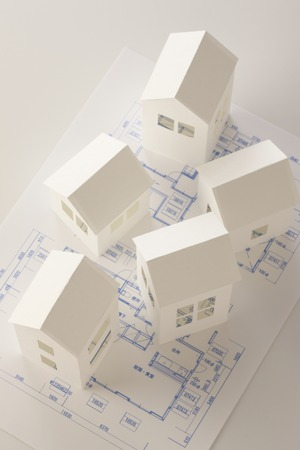 scaled down: House paper craft and drawing