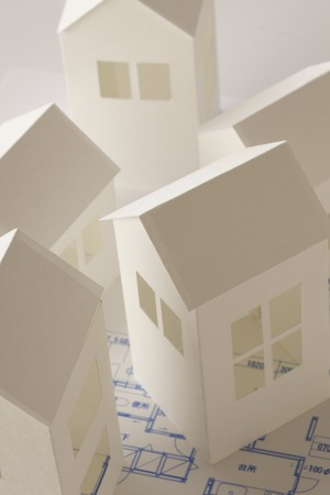 House paper craft and drawing