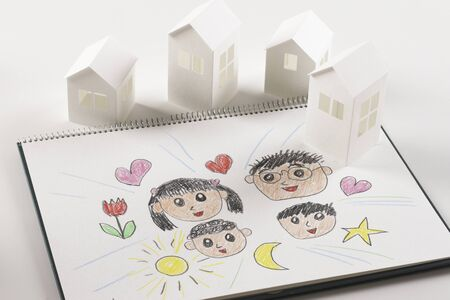 papercraft: Paper crafts home and family paintings