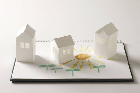Picture of Paper Craft home and Futaba and sun