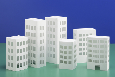 Paper craft House and building Stock Photo