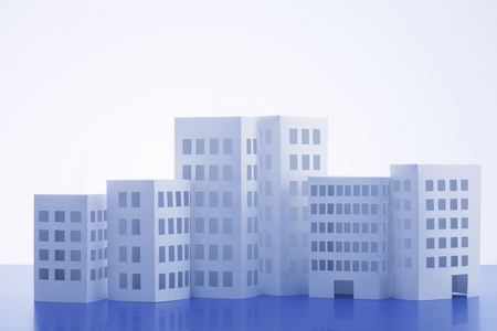 scaled down: Paper Craft of building