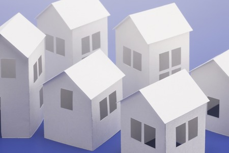 scaled down: Paper crafts home Stock Photo