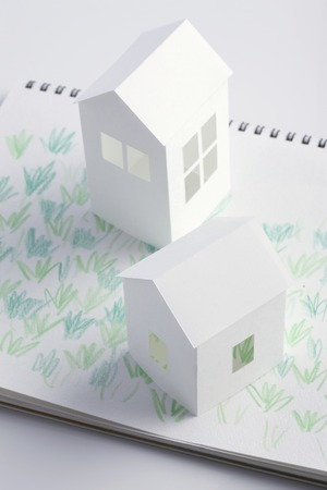 paper craft: Lawn House paper craft and illustrations